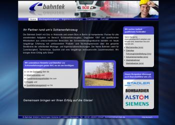 Bahntek GmbH - [statische Internetseite | Pflege & Wartung]