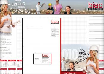 Biac Logoentwicklung & Drucksachen