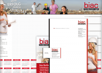 BIAC Personaldiensleistungen [Kalender, Briefbogen & Visitenkarten]