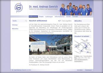 Dr. A.Genrich - Gastroenterologische Praxis [Webseite | CMS]