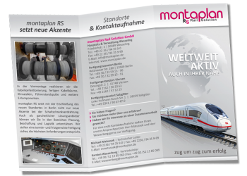 Flyer/Leporello - montaplan Rail Solution GmbH