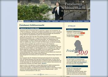 Potsdamer Schlössernacht [Webseite | Pflege & Wartung]