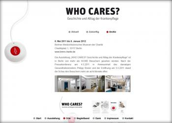WHO CARES? Wanderausstellung [Website | Pflege & Wartung]