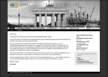 WS-Personaldienstleistungen [Website | Pflege & Wartung]